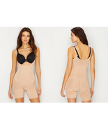 Spanx Oncore Open Bust Mid-Thigh Bodysuit, Soft Nude, LG - $89.09