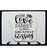 """Wall Mounted Keychain Holder Rack - """"The love of a family...Greatest ble... - $18.95"""