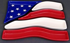 American Flag 5 Sectional Appetizer/Condiment Serving Trays - Home Inter... - $30.84