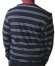 Crooks & Castles Dark Navy White Red Knit Cotton Devil Cardigan Sweater NWT image 4