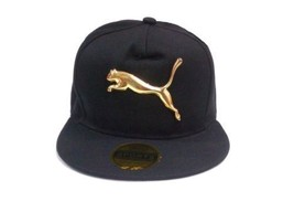 Gold Puma Tiger Men Women Baseball Black Cap Snapback Hat HipHop Hip Hop... - $13.00