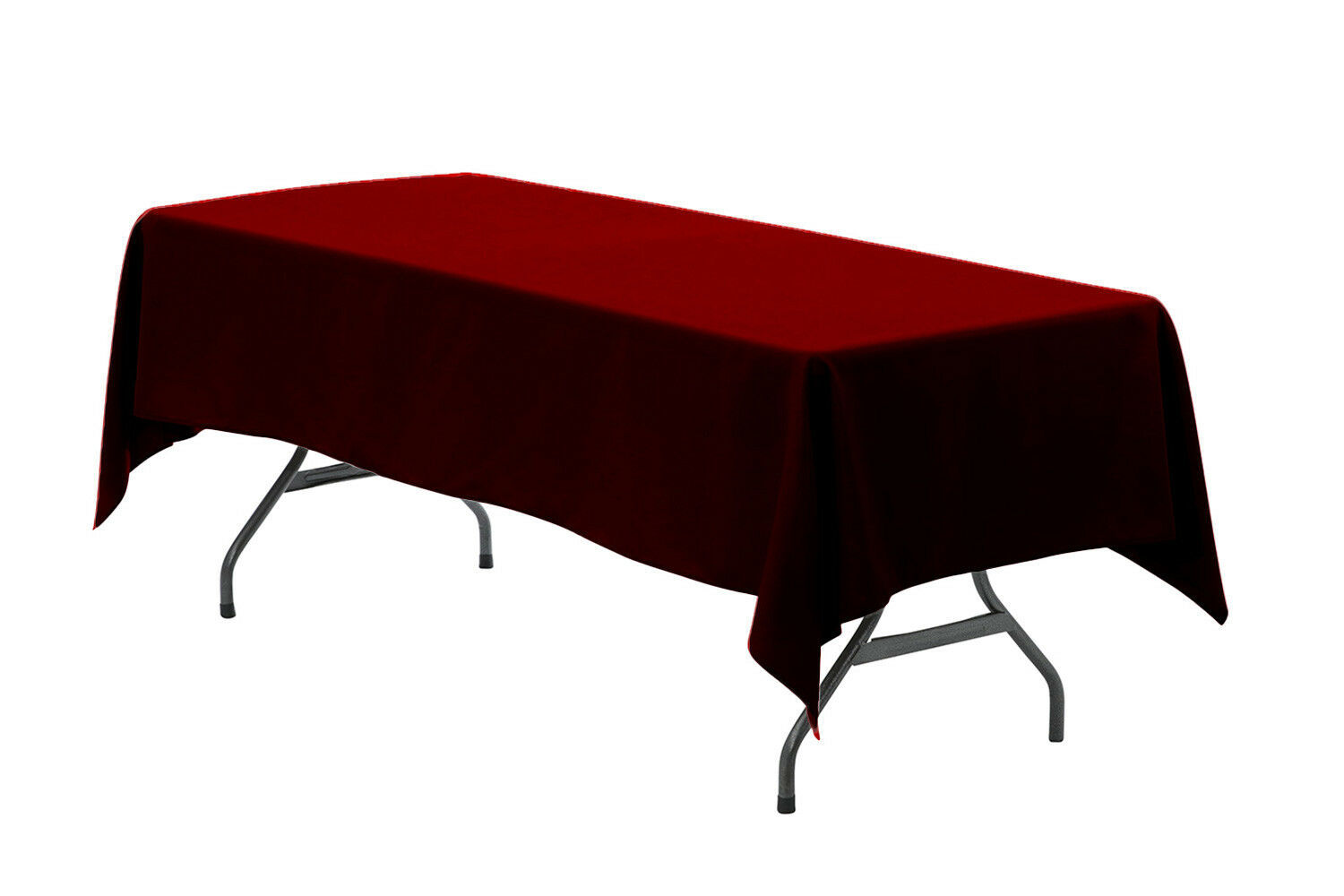 Primary image for Rectangular Premium Polyester Tablecloth Burgundy 60 x 126 inch