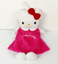 Hello Kitty Hot Water Bottle Doll Sanrino Plush Velour 15 inch tall - $29.99