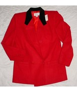 LORD & TAYLOR red 90% WOOL Lined Blazer Jacket  Sz. .10P  NWT $175 - $39.99