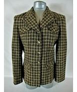 PENDLETON womens Sz 8 L/S beige green red WOOL BLEND button down jacket ... - $46.88