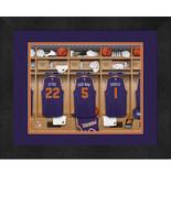 Personalized Phoenix Suns 12 x 16 Locker Room Framed Print - $63.95