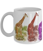 April The Giraffe Kaleidoscope Of Giraffes Coffee Mug Wrap Around Print - $15.99
