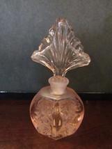 Vintage Pink Hand Crafted Carnival Glass Perfume Decanter Bottle Silvestri - $37.40