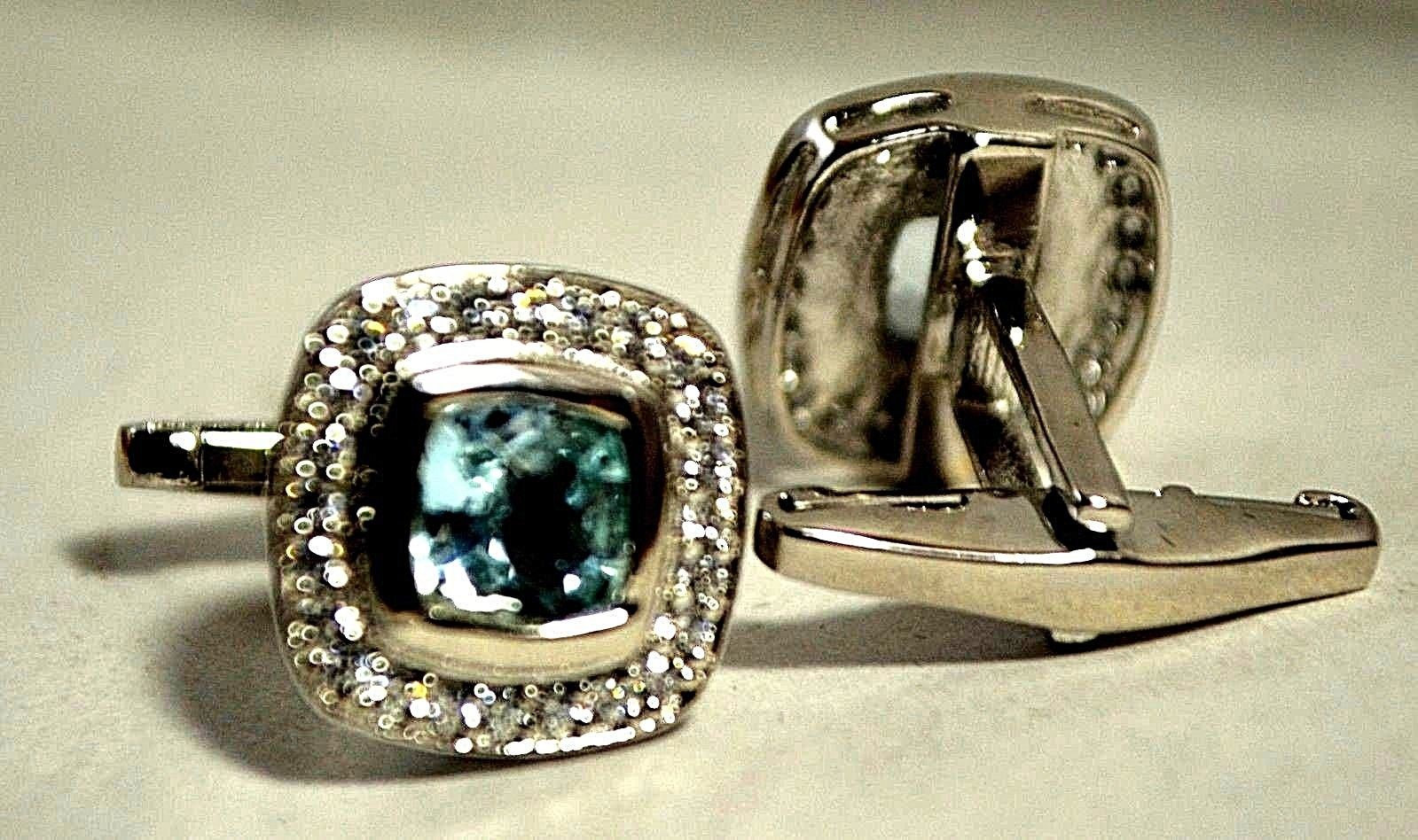 925 Sterling Silver Natural A+ Quality Blue Topaz And Cz Gemstone Artistic Handm image 5