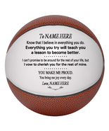 Personalized Mini Basketball To My Daughter, Son, Granddaughter, Grandson - $34.95