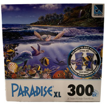 Paradise XL Jigsaw Puzzle 300 pieces Sure-Lox Turtle Town Joy - $14.54