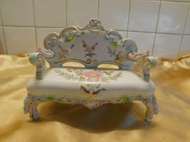 "Adorable Porcelain Bench! Measures 6"" by 5""! - $23.09"
