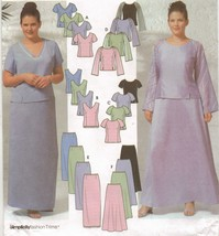 Misses Plus Full Figure Formal Evening Top Slim Flared Pant Sew Pattern 26W -32W - $13.99