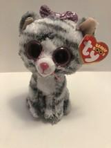 "TY Beanie Boos 6"" KIKI the Grey Cat Plush Stuffed Animal Toy MWMTs Ty Heart Tags - $10.99"