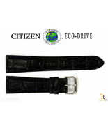 Citizen Eco-Drive AO9000-06B 22mm Black Leather Watch Band Strap S079756 - $59.95