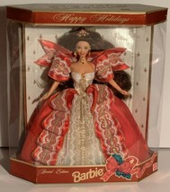 1997 10th Anniversary Happy Holidays Special Edition Brunette Barbie With Stand - $25.00