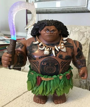 Disney Store Talking MAUI Action Figure Moana: Hidden Tattoos, Light-Up ... - $64.35