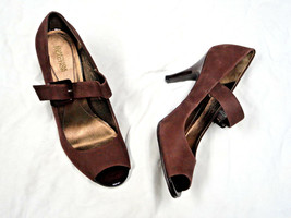 Reaction Kenneth Cole chocolate suede shoe   Size 10  adjustable buckle - $18.89
