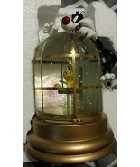 Extremely Rare! Looney Tunes Sylvester with Tweety in Cage Figurine Glob... - $346.50