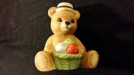 """Easter Teddy Bear Porcelain Figurine """"Egg Hunt Bear"""" HOMCO - $10.00"""