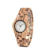 BOBO BIRD Bamboo Zebra Wooden Watch- 2 Colors - $44.95