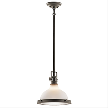 Kichler 43765OZ Hatteras bay Pendants 12in Olde Bronze 1-light - $259.99