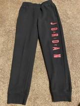 Youth Air Jordan Jumpman Sweatpants Black & Red Boy's Large 12-13 Years ... - $34.64
