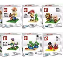 Toy Story Diy Building Blocks Disney Pixar Buzz Lightyear Woody Nanobloc... - $89.05