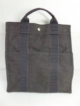 Auth Hermes backpack ale line ad MM dark gray �~ gray old 860 D1 B - $348.77