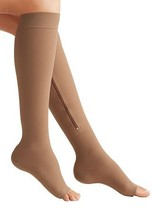 Zipper Medical Compression Socks with Open Toe 15-20mmHg - Best Support ... - $21.22