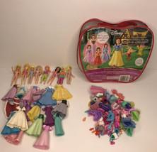 Glitter Precious Princess Disney  Miniature Dolls & Outfits Lot - $21.73