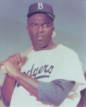 Jackie Robinson 8X10 Photo Brooklyn Dodgers Baseball Picture Bat On Sholder - $3.95