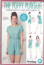 Simply Sewing Poppy Playsuit Easy Pattern US Size 10 12 14 16 18 20 22 Uncut - $14.54