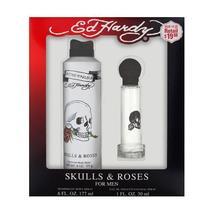 Ed Hardy Skulls & Roses 2 Piece Gift Set For Men - $18.99