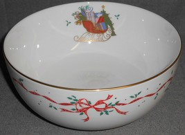 MIKASA Bone China CHRISTMAS CHEER PATTERN Serving or Vegetable Bowl - $39.59