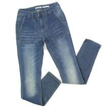 MUDD Womens Medium Wash Denim Skinny Fit Blue Jeans Size 1 - $26.72