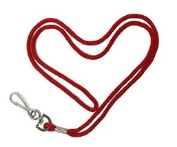 HOSL 100 Pack Economy Red Badge Lanyards Business Card Lanyards ID Card ... - $15.24