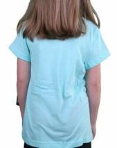 Iron Fist Girls Happy Camper Turquoise Blue Aqua Youth Little Big Kids T-Shirt image 2