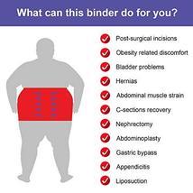 JOMECA Plus Size Bariatric Abdominal Binder, Hernia Support Compression Belt, St image 3