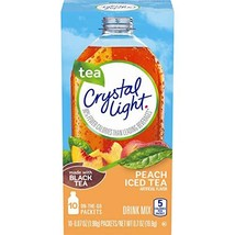 Crystal Light Peach Drink Mix 120 Packets, 12 Canisters of 10
