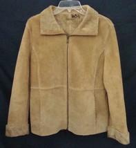 GUESS Suede Jacket BOHO Zip Fur Lined Leather Retro Car Coat Women Mediu... - $69.30
