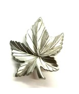 Vintage Canadian Jewelry Pewter Canada Silver Tone Maple Leaf Brooch Pin - $11.14