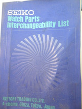 Seiko Watch Parts Interchangeability List book chronograph divers automa... - $188.67