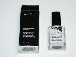 Avon Mosaico Efectos Top Coat Blanco 12 ML 0.4 Fl oz Pulir Mani Pedi - $10.65
