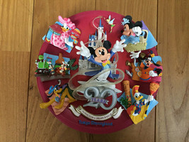 Tokyo Disneyland 20th Anniversary Figure Ring 3D Decorative Plate Mickey  - $145.53