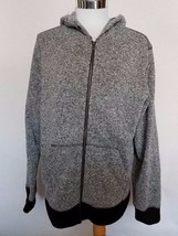 Aeropostale Men's  Black Gray Zip Up Sweatshirt Hoodie Jacket L  - $21.28