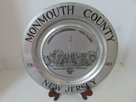 WILTON ARMETALE PLATE MONMOUTH COUNTY BATTLE MONUMENT NEW JERSEY 1884 - $18.76