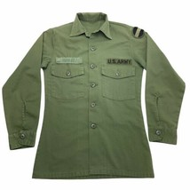 Vintage 80s U.S. Army Forces Command FORSCOM 507 Small Long Sleeve Utility Shirt - $39.00