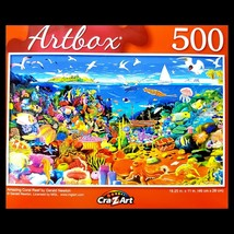 500 Piece Jigsaw Puzzle, Artbox 18 in. x 11 in, Amazing Coral Reef - $5.65