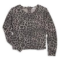 Splendid Girls' Animal Print Sweatshirt, Black, Size 12, MSRP $58 - $20.78